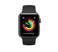 Apple Watch Series 3 (42mm,Space Gray Aluminum Case with Black Sport Band)