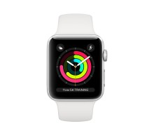 Apple Watch Series 3 (42mm,Silver Aluminum Case with White Sport Band)