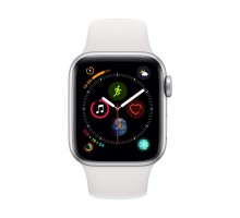 Apple Watch Series 4 (40mm,Silver Aluminium Case with White Sport Band)