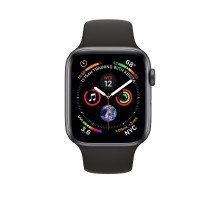 Apple Watch Series 4 (40mm,Space Grey Aluminium Case with Black Sport Band)