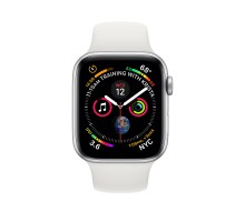 Apple Watch Series 4 (44mm,Silver Aluminum Case with White Sport Band)