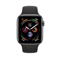 Apple Watch Series 4 (44mm,Space Grey Aluminium Case with Black Sport Band)