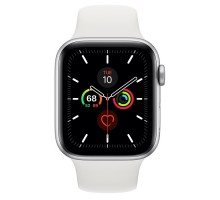 Apple Watch Series 5 (44mm,Silver Aluminum Case with White Sport Band)