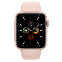 Apple Watch Series 5 (44mm,Gold Aluminum Case with Pink Sand Sport Band)