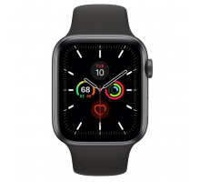 Apple Watch Series 5 (44mm,Space Gray Aluminum Case with Black Sport Band)
