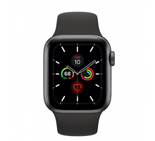 Apple Watch Series 5 (40mm,Space Gray Aluminum Case with Black Sport Band)