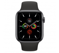Apple Watch Series 5 (GPS + Cellular,44mm,Space Gray Aluminum Case with Black Sport Band)