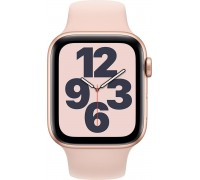 Apple Watch SE (44mm,Gold Aluminum Case with Pink Sand Sport Band)