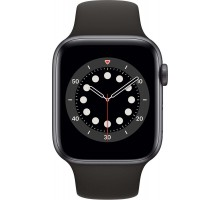 Apple Watch Series 6 (44mm,Space Gray Aluminum Case with Black Sport Band)