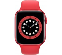 Apple Watch Series 6 (44mm,Red Aluminum Case with Red Sport Band)