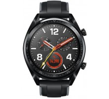Huawei GT Watch Sport Black Rubber Graphite Black Sport Strap