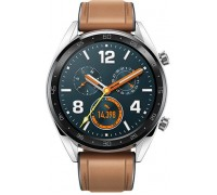 Huawei GT Watch Classic Stainless steel Saddle Brown Hybrid Strap